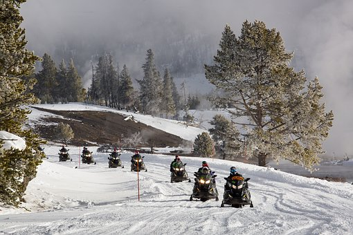 Wyoming in motoslitta